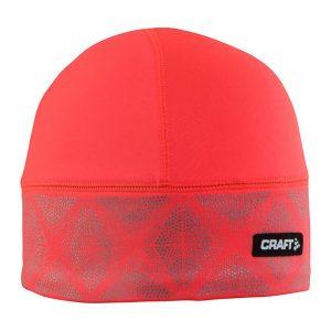 CRAFT反光保暖帽,桃紅