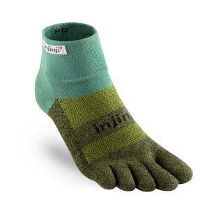 TRAIL野跑避震吸排五趾短襪-松綠
