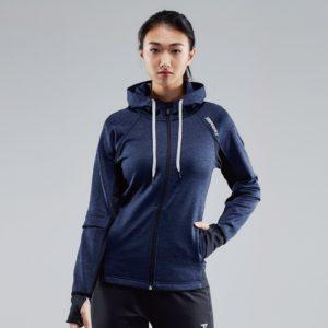 S9TM112W-保暖機能運動外套(女-深藍)-001